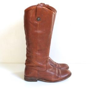 Frye Melisa Button Tall Leather Pull-On Boots